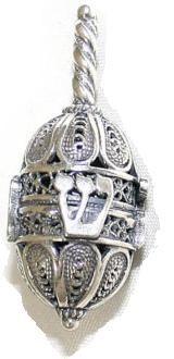 Silver Filigree Dreidel