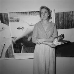 Douglas D. Prince: Francesca Woodman in her studio , 1976