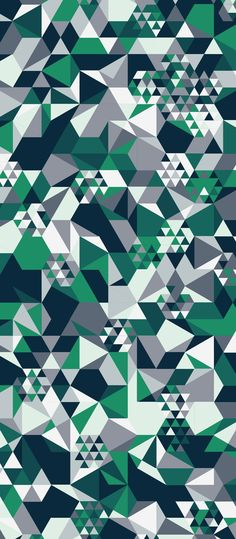 Geometric Hexagonal Alpine Snow Pattern