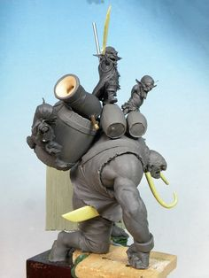 Legion of the Cow LTD is raising funds for Black Sailors- Pirates, Orcs, Fantasy Miniatures! on Kickstarter! Incredible large-scale sculpts cast in amazingly detailed resin for painters and collectors Fantasy Races, Fantasy Art, Game Concept Art, Fantasy Miniatures, Sculpture Clay, Character Design References, Creature Design, Figurative Art, Sculpting