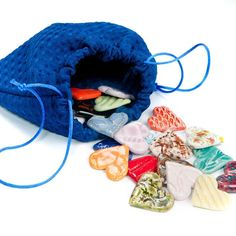 Feeling Hearts Bag, helpful for bereavement to talk about grief and loss.  Ask student to label each heart with a favorite quality or memory of the person lost.  Let them choose their favrite heart to keep and hold on to in their pocket.