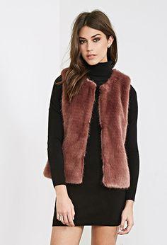 Classic Faux Fur Vest   FOREVER21