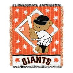 MLB San Francisco Giants 36-Inch-by-46-Inch Woven Jacquard Baby Throw by Northwest. $16.41. Loom woven high bulk acrylic, with the look and feel of cotton.  The weaving process of our triple jacquards allow us to capture exact pantone specified colors of team logos, perfect for the die-hard sports fan.  Jacquards are approximately 36-Inch x 46-Inch, 100% Acrylic and are fringed on all four sides.. Save 18%!