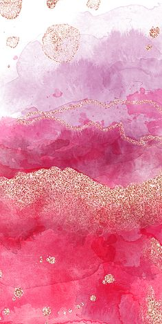 Gradient Color Cartoon Rose Gold Mobile Phone Wallpaper
