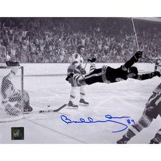 Steiner Bobby Orr Boston Bruins Signed Stanley Cup Flying Goal 8x10 Photo: GNR COA