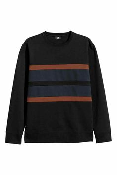 e2106231cb5 Block-striped sweatshirt with long sleeves and ribbing at neckline