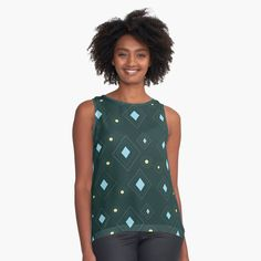 Black And White Heart, Black N Yellow, Blue, Memphis Pattern, Black White Pattern, Yellow Pattern, Top Pattern, Black Sleeveless Top, Pizza Party