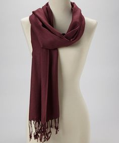 Take a look at this Eggplant Fringe Scarf by Kitara on #zulily today!