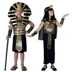 Faraó egípcio Trajes Das Crianças New Cosplay masquerade Halloween infantil garoto Carnaval Cleopatra traje real