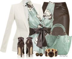 """""""Leather n' Bows"""" by stylesbyjoey on Polyvore"""
