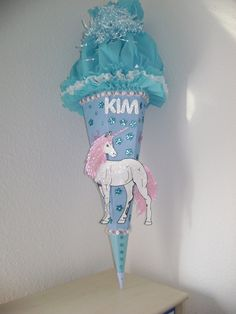 Schultüte  Pferd Einhorn  Mädchen  von Sannys Basteltraum  auf DaWanda.com