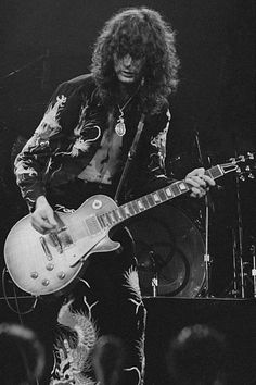 Jimmy Page of Led Zeppelin in Earls Court, 1975.