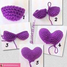 The pattern to make the amigurumi heart balloon is free! The English version is published on Simply Crochet website, here is the link!Crochet Rounds - Most popular and and Crochet Wool, Love Crochet, Crochet Flowers, Easy Crochet, Crochet Garland, Crochet Decoration, Crochet Stitches Patterns, Crochet Doll Pattern, Knooking