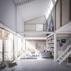 "FÖRSTBERG ARKITEKTUR OCH FORMGIVNING | ""House with a saw-tooth roof"", Sweden #render"