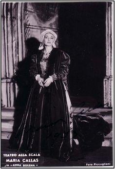 Maria Callas as Anne Boleyn in the opera Anna Bolena