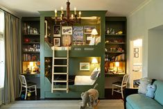 Bunk beds design and room ideas. Most amazing bunk beds for kids. Designing bunk beds that you might like. Bunk Bed With Desk, Bunk Beds Built In, Cool Bunk Beds, Kids Bunk Beds, Loft Beds, Boys Bunk Bed Room Ideas, Bunk Bed Ideas For Small Rooms, Bunk Beds For Boys Room, Playroom Ideas