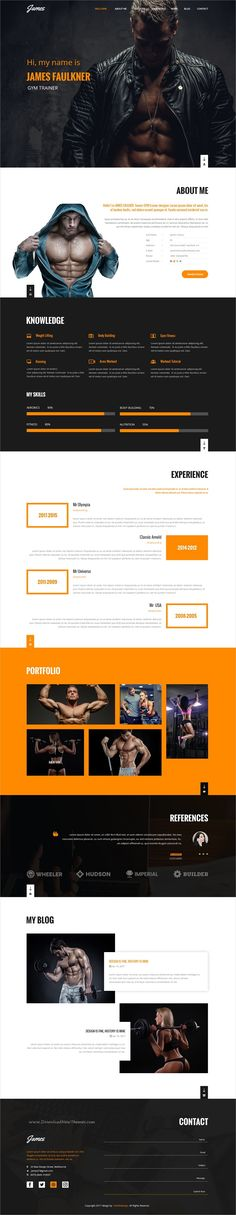 James is clean and modern design #Photoshop template for #webdev professional resume, #CV, #vCard and Portfolio showcase download now➩ https://themeforest.net/item/james-resumecv-personal-portfolio-psd-template/19811302?ref=Datasata