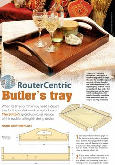 DIY Butler Tray - Woodworking Plans