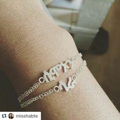 #Repost @misshabte with @repostapp ・・・ Am in love with my new bracelet my children's name in Tigrinya #Simon #Sara #bracelet #silver #gold #eritrean #ethiopan #habesha #geez #amharic #tigrinya #nameplate #eritrea #ethiopia #fashion #jewellery #accessories