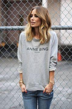 Anine in signature sweatshirt #aninebing