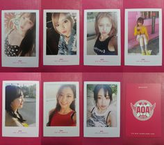 LOT of 7 AOA Official PHOTOCARD WEEKEND Ver. 4th Album GOOD LUCK Photo Card