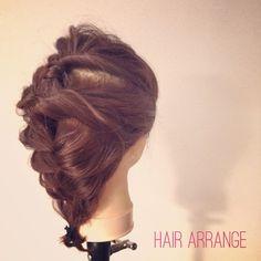☆hair arrange☆ #ヘア #hair #へアスタイル #hairstyle #ヘアアレンジ #hairarrange #ウェディング #wedding #ウェディングヘア #weddinghair #三つ編み #編み込み #美容室 #美容院 #大阪 #南船場 #kommher #コムヘア
