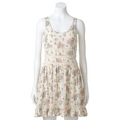 Mudd Illusion Floral Peasant Dress - Juniors