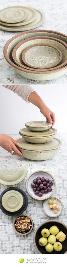 SARAH KERSTEN Set Of Nesting Covered Bowls - Juby Store