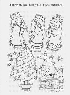 Navidad by Vanessa Herrera Noel Christmas, Christmas Nativity, Christmas Colors, Winter Christmas, Christmas Crafts, Bible Crafts For Kids, Christmas Activities For Kids, Christmas Printables, Diy For Kids