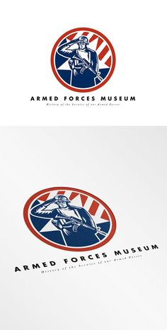 Armed Forces Museum Logo by patrimonio on @creativemarket