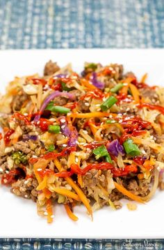 ThisEggroll In A Bowl (Crack Slaw) is a one-skillet meal that is bursting with flavor and can be on the table in 20 minutes. It will keep everyone happy because it fits into Keto, Paleo, Whole30, Weight Watchers and Low Carb lifestyles!