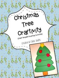 {Freebie} Oh Christmas Tree! Craftivity... English Language Arts, Writing, Christmas/ Chanukah/ Kwanzaa   PreK, Kindergarten, 1st, 2nd Activities, Printables, Bulletin Board Ideas...Here is a simple and fun Christmas tree craft that can be paired with your favorite holiday book!   Included: Christmas tree template How To Decorate a Christmas Tree (writing activity) Underneath the Christmas Tree (writing activity) Christmas Tree Questionnaire (writing activity/home activity)