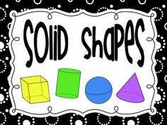 Solid Shapes Video/Song - cube, sphere, cylinder and cone Kindergarten Freebies, Teaching Kindergarten, Kindergarten Shapes, Student Teaching, Math Resources, Math Activities, Math Strategies, Classroom Resources, Math Stations