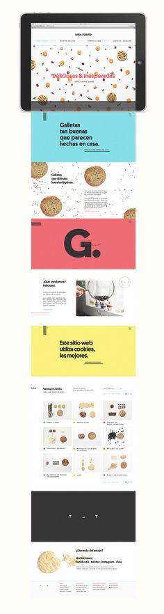 Ilora Poquito web site design #webdesign. Color block pages