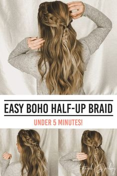 Box Braids Hairstyles, Easy Hairstyles For Long Hair, Hairstyle Braid, School Hairstyles, Natural Hairstyles, Halloween Hairstyles, Pretty Hairstyles, Hairstyle Short, Half Braided Hairstyles