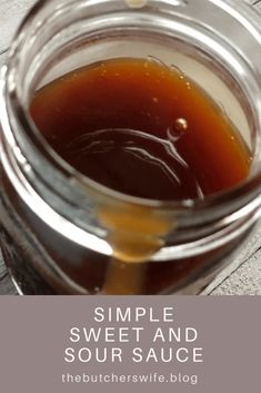 Simple Sweet and Sour Sauce – The Butcher's Wife Homemade Seasonings, Homemade Sauce, Easy Chinese Recipes, Asian Recipes, Egg Roll Recipes, Easy Recipes, Almond Biscotti Recipe, Chicken Egg Rolls, Hot Fudge Sauce
