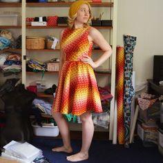 Vibrant Geometric Dress