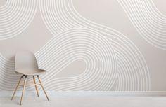Japanese Geometric Wallpaper, Geometric Wallpaper Design, Floral Pattern Wallpaper, Contemporary Wallpaper, Wallpaper Designs, Zen Wallpaper, Neutral Wallpaper, Art Deco Wallpaper, Black And White Wallpaper