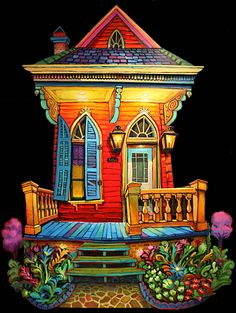 """Uptown Garden"" by Terrence Osborne. You can open and close the shutters and other objects throughout this piece..."