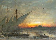 Albert Goodwin  - The Burning Ghats