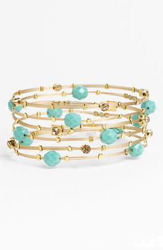 love these swarovski crystal bracelets,  seasonal whispers faceted bead and metal bangles (set of 6) Nordstroms