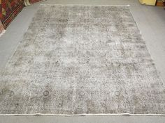 Vintage Overdyed Rug Grey Overdyed Rug  Turkish Handmade Overdyed Rug  #vintage