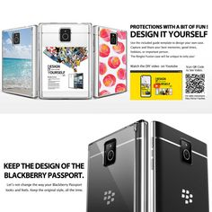 Smoke Black - Ringke Fusion Blackberry Passport Case with Clear Back and Drop Protection + Free Domestic Shipping on Etsy, $11.99