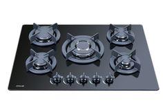 MILLAR 70cm Built-in 5 Five Burner Gas Hob Cooker Cooktop with Tempered Ceramic Glass Surface Wok Burner & FFD - £175  FAST DISPATCH: Amazon.co.uk...