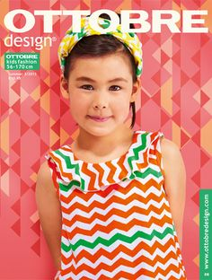 Ottobre® Design – Sewing patterns, fabrics and more… Knitting For Kids, Sewing For Kids, Baby Sewing, Sewing Magazines, Add Sleeves, Couture, Fabric Design, Chevron, Organic Cotton