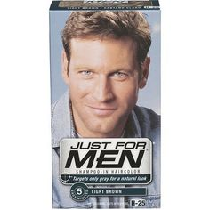 Just For Men Shampoo-In Hair Color, Light Brown ** Details can be found by clicking on the image. (This is an affiliate link and I receive a commission for the sales)
