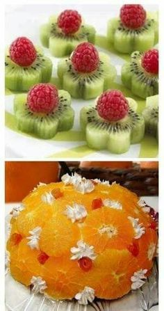 Fresh Fruit Food Art Recipe for Orange Dome? many other great ideas ~ translation… - Fresh Fruit Food Art Recipe for Orange Dome? many other great ideas ~ translation … – - Orange Recipes, Fruit Recipes, Cookie Recipes, Tea Recipes, Cute Food, Good Food, Funny Food, Fruits Decoration, Dessert Aux Fruits