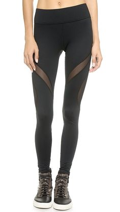 The mesh on these Michi leggings helps keep legs from getting overheated, and the long length makes them great for both workouts and days out on the town.