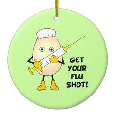 #nurse - #Nurse Flu Shot Ceramic Ornament