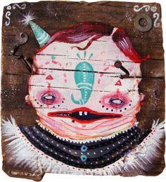 """Olvidado Rey Gudú"" Acrylic paint on wood. 30 x 30 cmts."